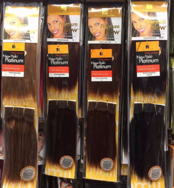 "SENSATIONNEL PREMIUM NOW  NEW YAKI PLATINUM 100% HH WEAVE WEFT 8"" TWIN PACK"